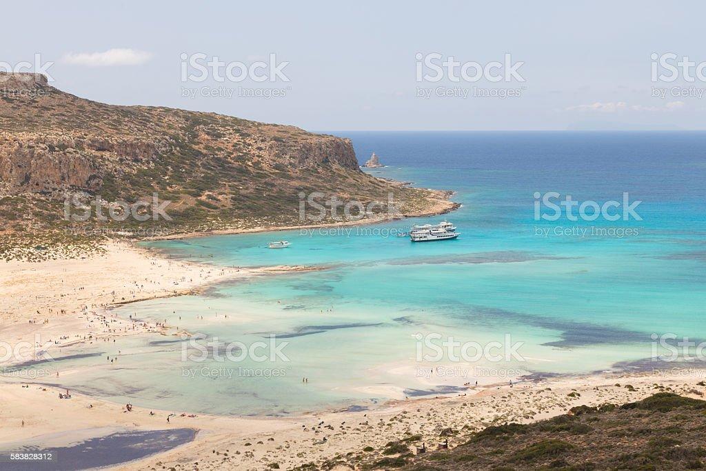 Balos Strand auf der Insel Kreta in Griechenland Lizenzfreies stock-foto