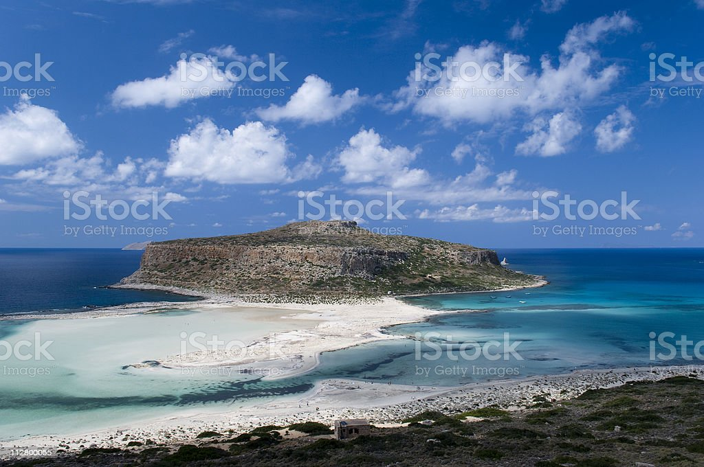 Balos beach on the Crete islands, Greece royalty-free stock photo