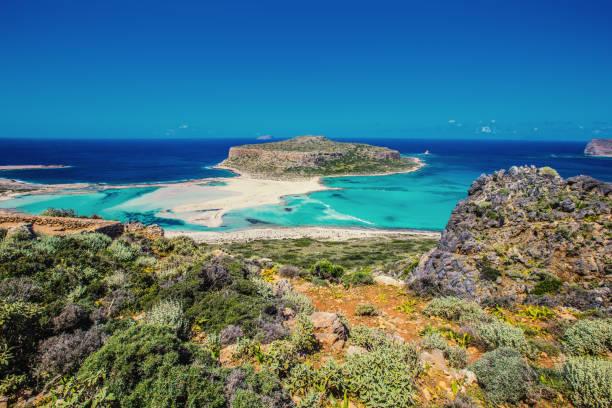 balos beach - laguna foto e immagini stock