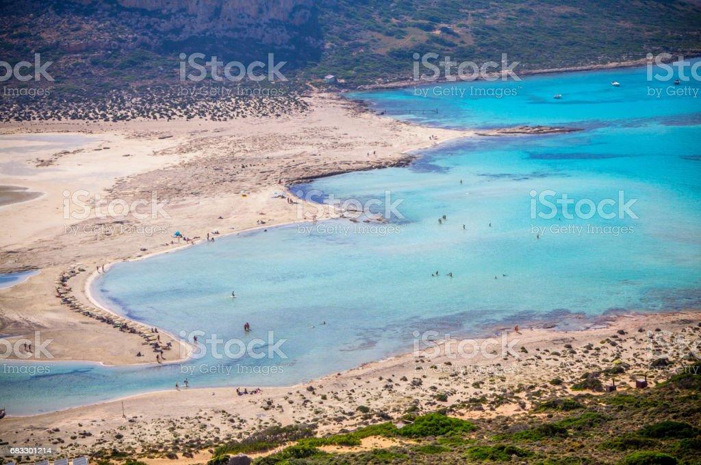 Balos beach royalty free stockfoto