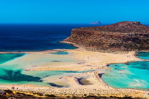 Balos Lagune Op Kreta Griekenland Stockfoto en meer beelden van Balo