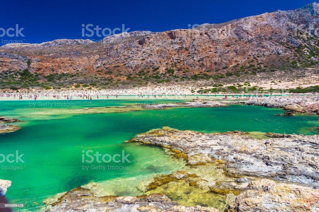 Balos lagune op Kreta, Griekenland. - Royalty-free Balo Stockfoto