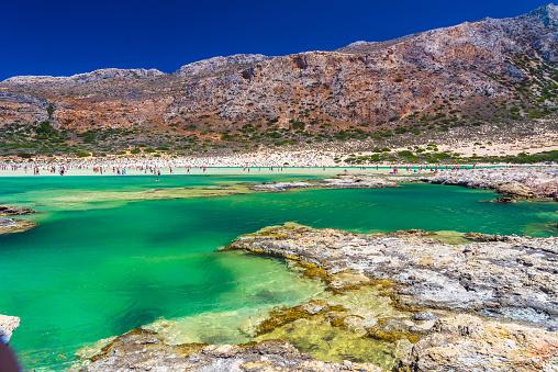 Balos Lagune Auf Der Insel Kreta Griechenland Stockfoto und mehr Bilder von Balo