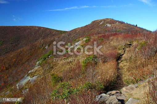 istock Balsam Knob in the Shining Rock Wilderness, North Carolina. 1180703181