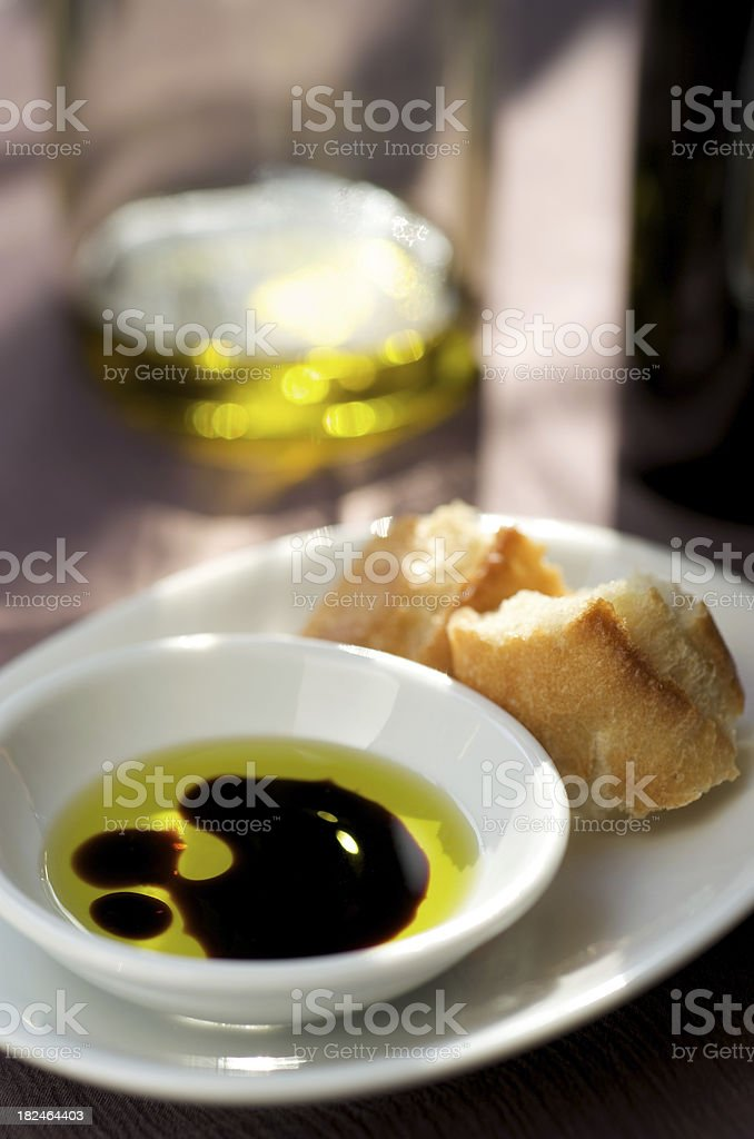 Balsamic Vinegar and Oil royalty-free stock photo
