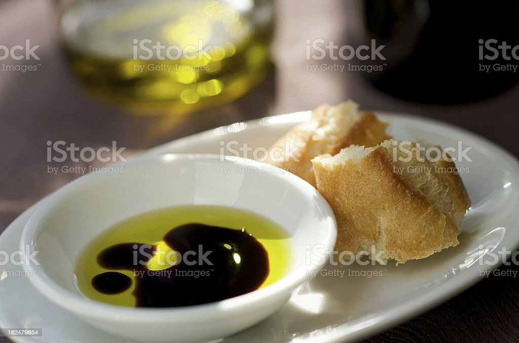 Balsamic Vinegar and Olive Oil royalty-free stock photo