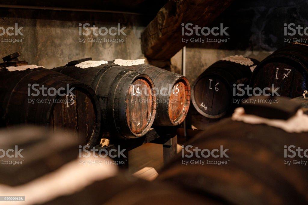 Balsamic Vinegar Barrel, Modena, Italy stock photo