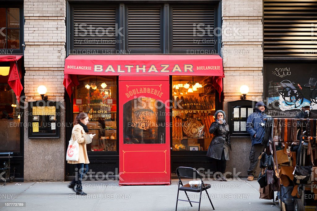 Balthazar Restaurant Soho Manhattan royalty-free stock photo
