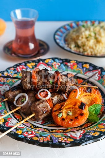 Balti Lamb Cooked With Yoghurt And Spices Caramom Dried Apricots Stock Photo & More Pictures of Balti Dish