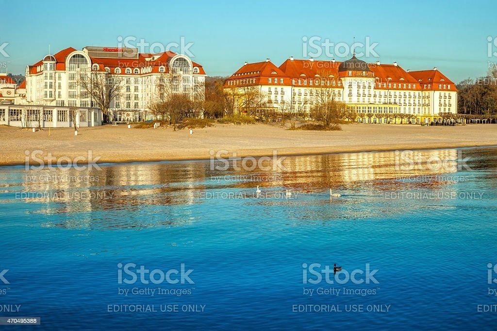 Baltic beach stock photo