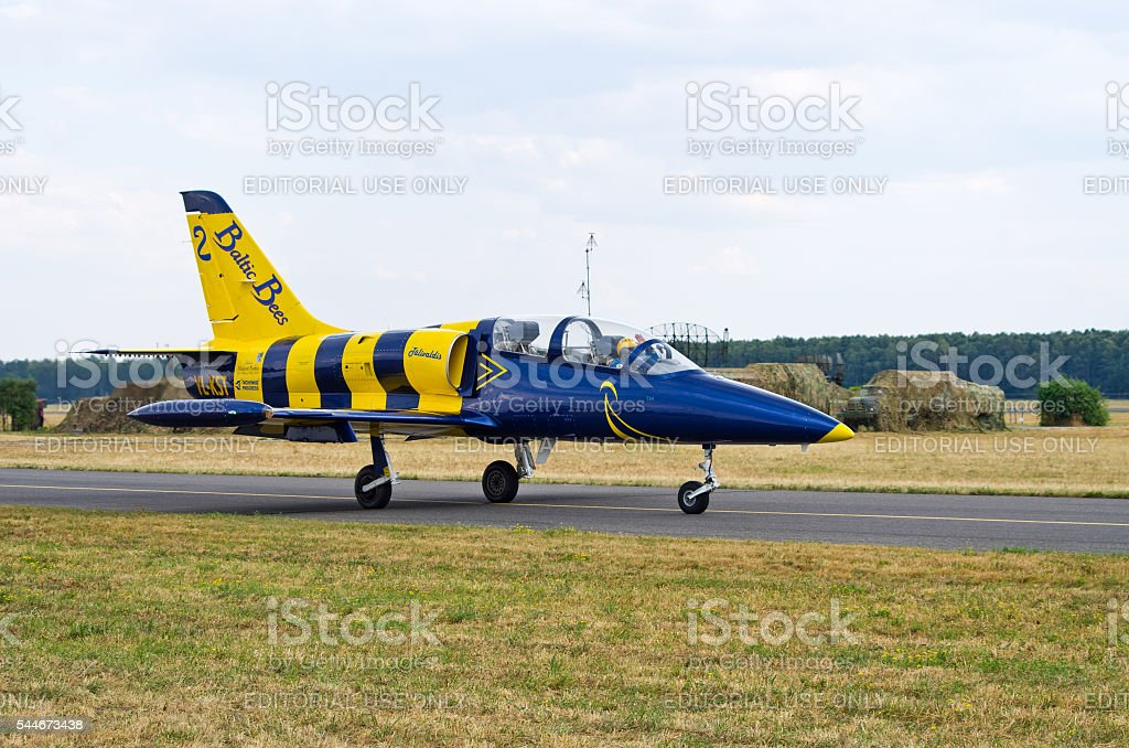Baltic Bees formation on Radom Airshow, Poland stock photo
