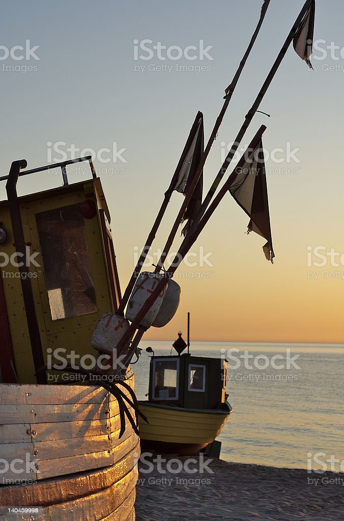 Baltic Fishing Boats 7 royalty-free stock photo