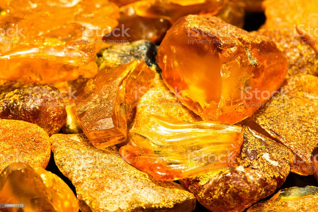 Baltic sea amber stock photo