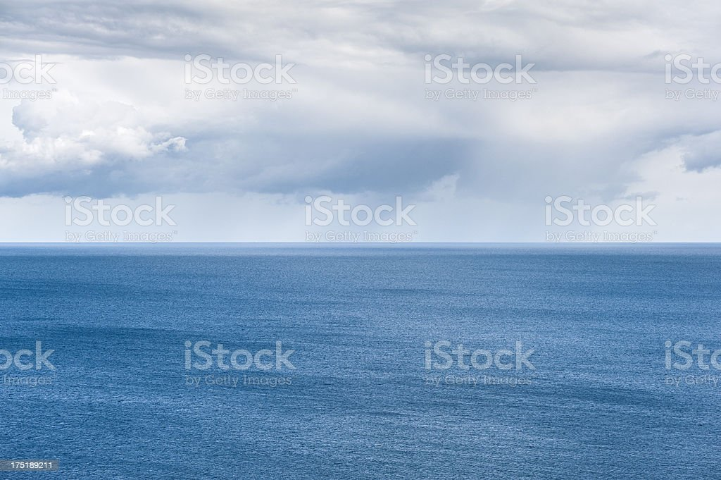 Baltic Sea and rain clouds royalty-free stock photo