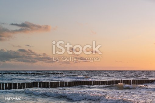 Baltic sea and sunset sky. This file is cleaned and retouched.