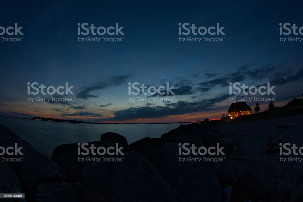 Baltic Sea at evening royalty-free stock photo