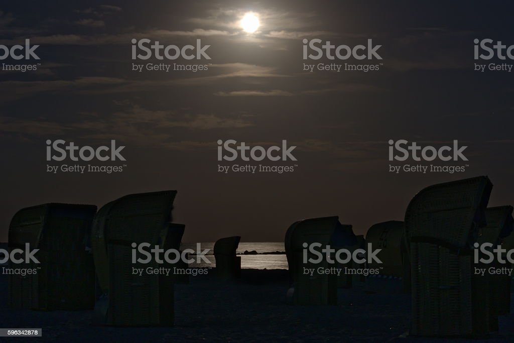 Baltic Sea at night royalty-free stock photo