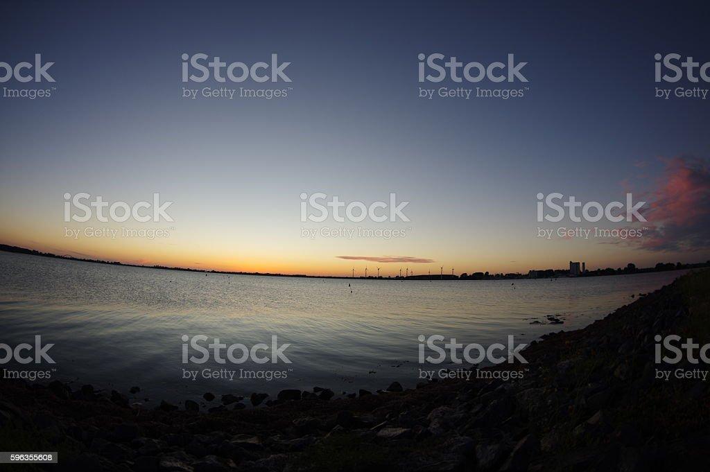 Baltic Sea at night royalty-free stock photo