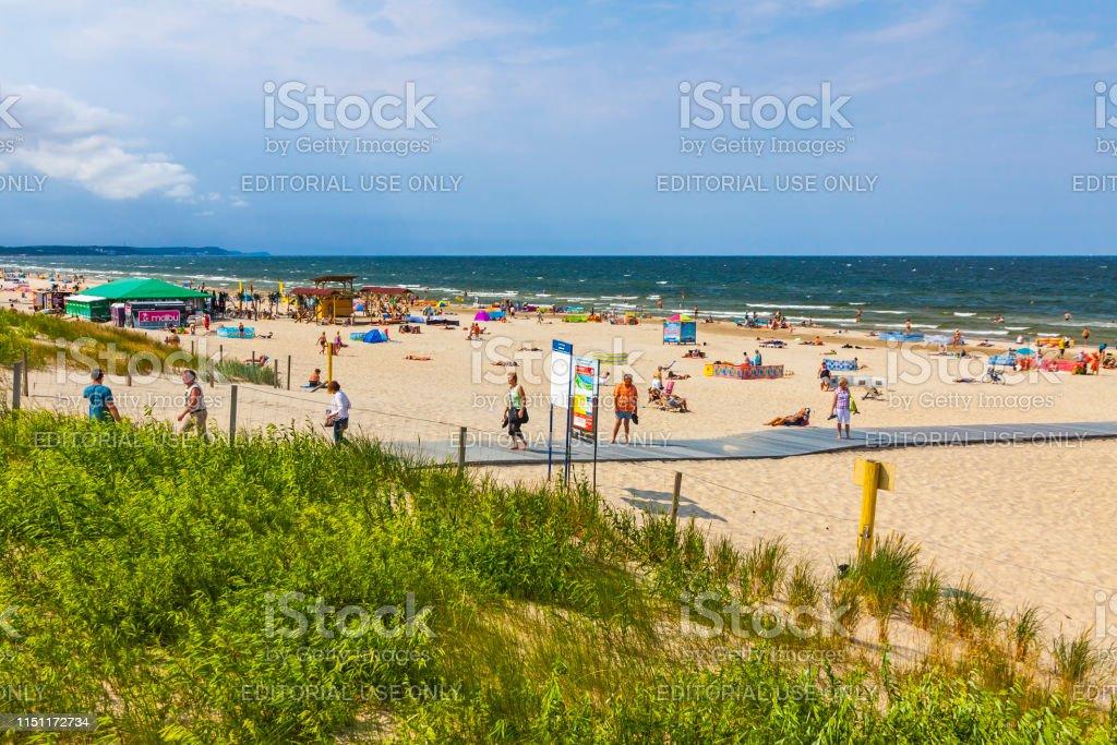Ostseestrand Auf Der Insel Usedom In Swinoujscie Polen Stockfoto