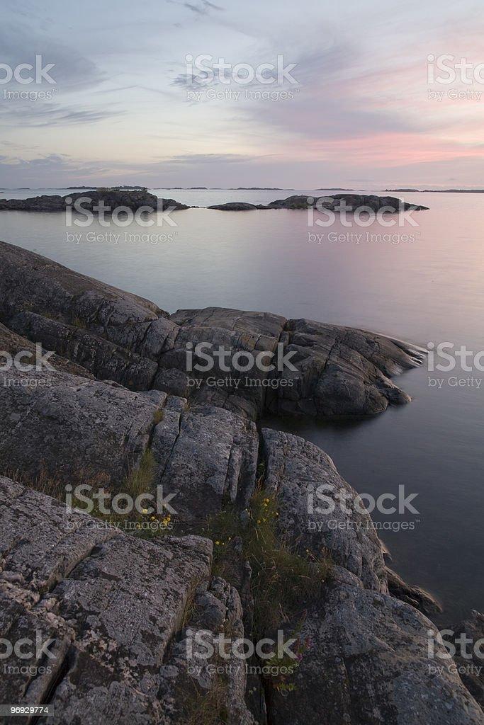 Baltic Sea coast in Finland royalty-free stock photo