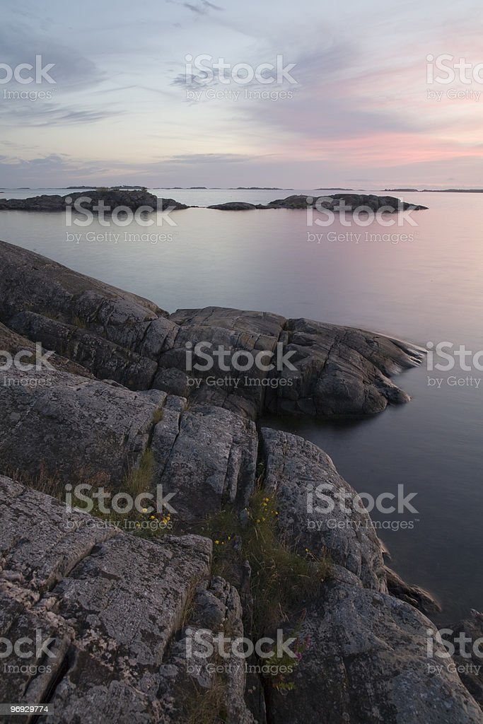 Baltic Sea coast in Finland stock photo