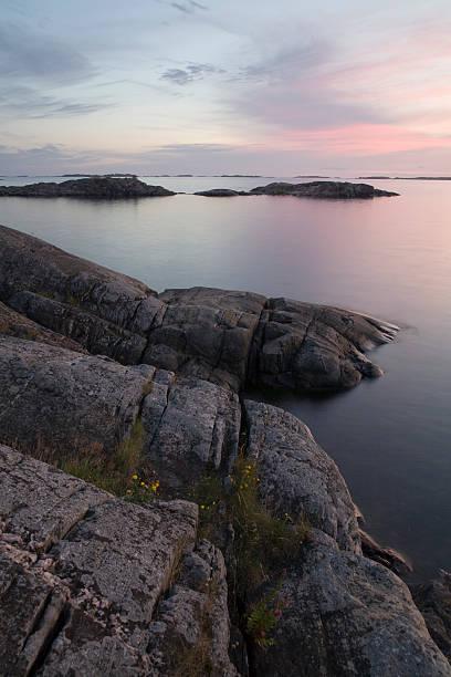Baltic Sea coast in Finland stock photo