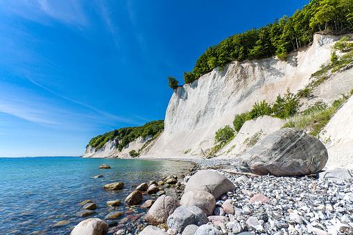 Baltic Sea coast on the island Ruegen, Germany
