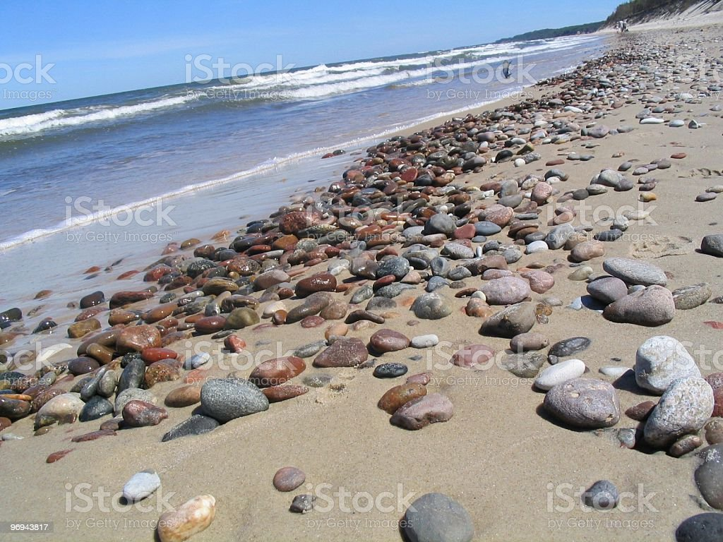 Baltic sea gravel beach royalty-free stock photo