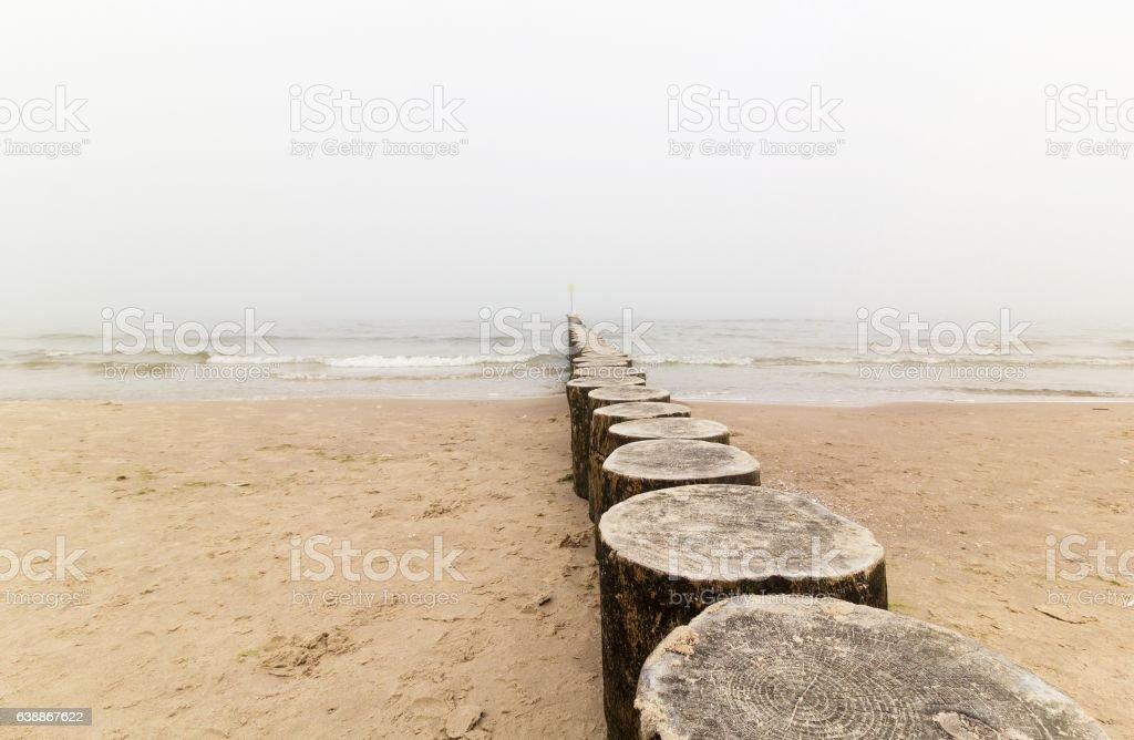 Baltic sea in the fog – zdjęcie