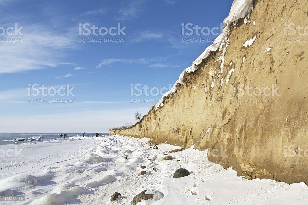 Ostsee im winter Lizenzfreies stock-foto