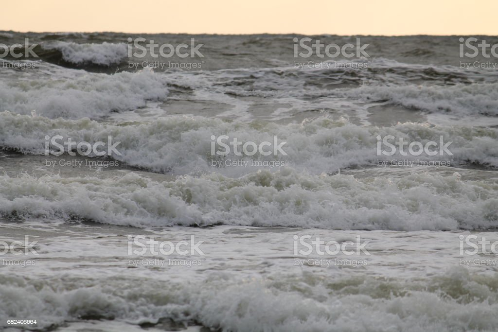 Baltic Sea. Seascape at sunset royalty-free stock photo