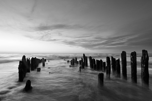 Baltic Sunset in B&W, Russia, Curonian spit