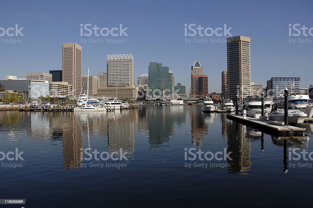 Baltimore and the Inner Harbor stock photo