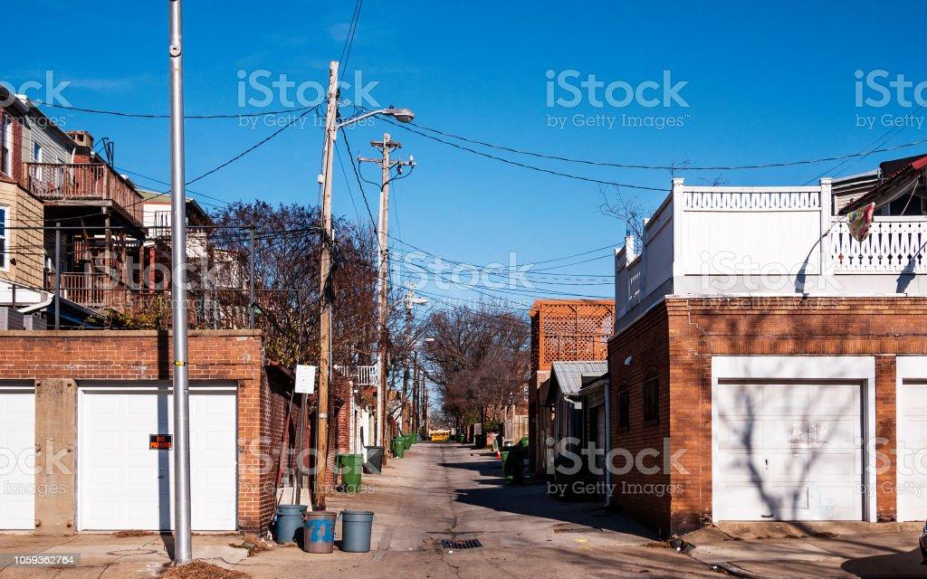 Baltimore backstreets - Charles Village stock photo