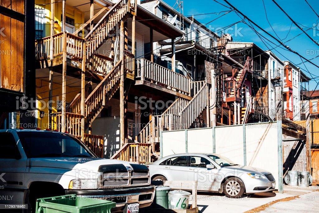 Baltimore backstreets stock photo