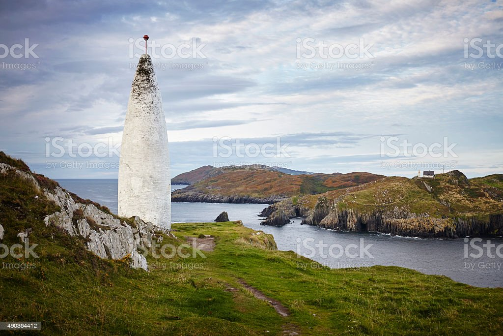 Baltimore Beacon und Sherkin Island, Irland stock photo