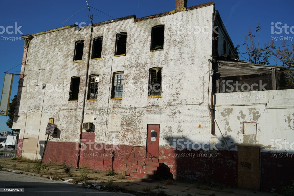 Baltimore blighted homes stock photo