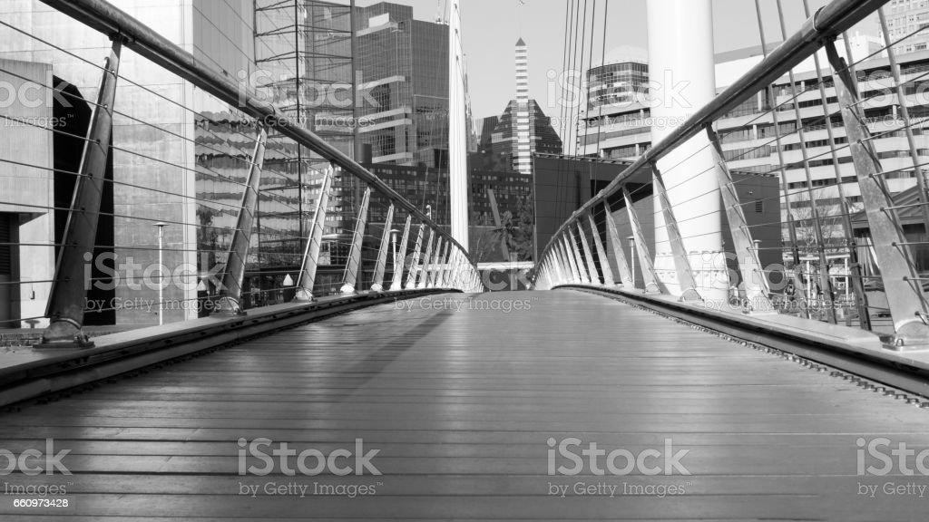 Baltimore Bridge View in Black and White stock photo