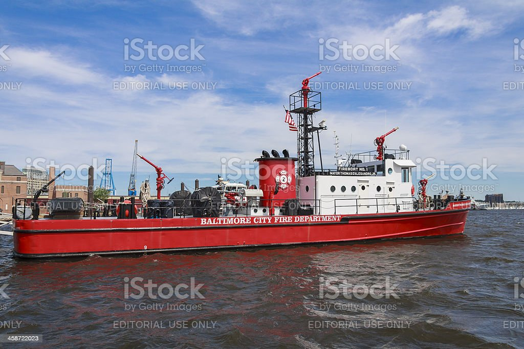 Baltimore City Fireboat Number One stock photo