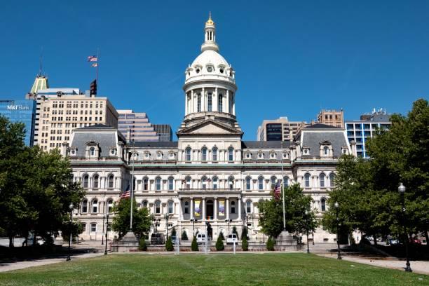 Baltimore City Hall, Baltimore, Maryland stock photo
