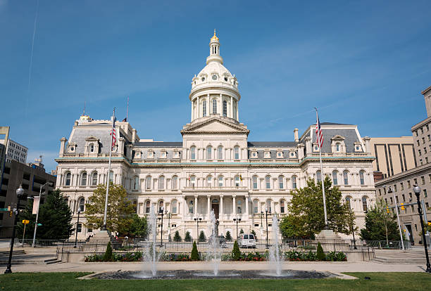 Baltimore City Hall in Maryland stock photo
