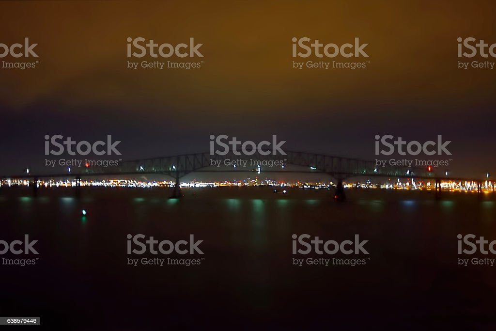 Baltimore Cityscape at Night stock photo