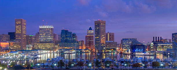 Baltimore Cityscape HDR Image  inner harbor baltimore stock pictures, royalty-free photos & images