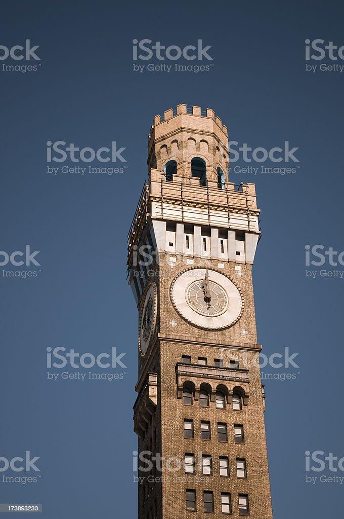 Baltimore Clock Tower royalty-free stock photo