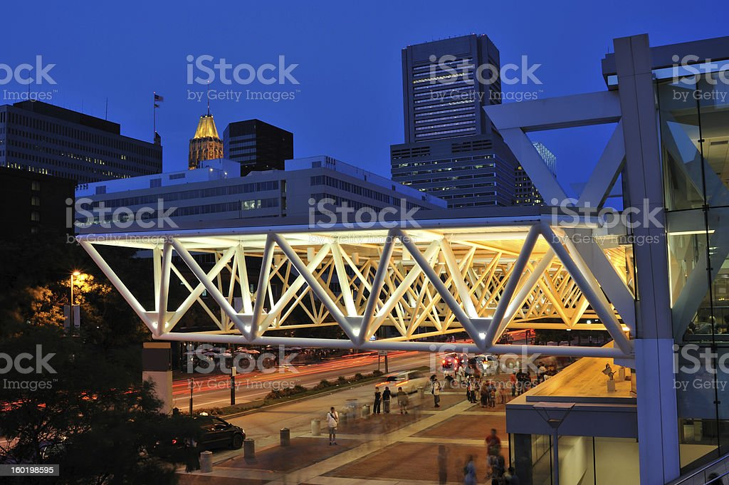 Baltimore Convention Center stock photo
