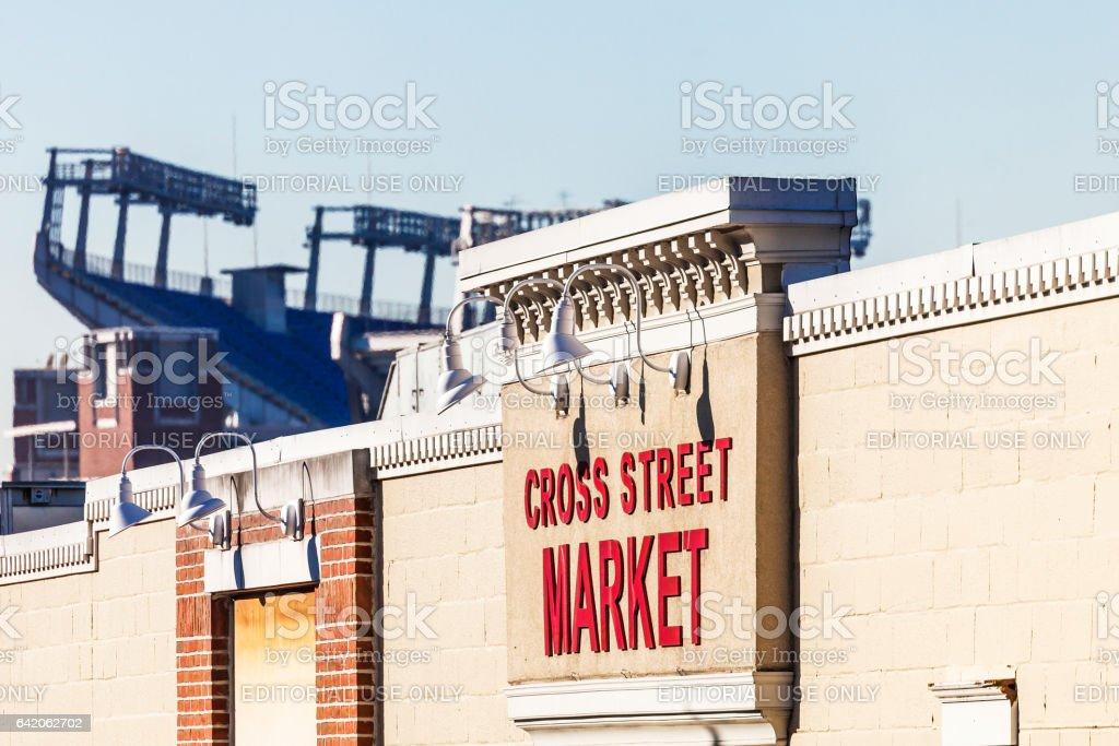 Baltimore - Cross Street Market and M&T Bank Stadium. stock photo