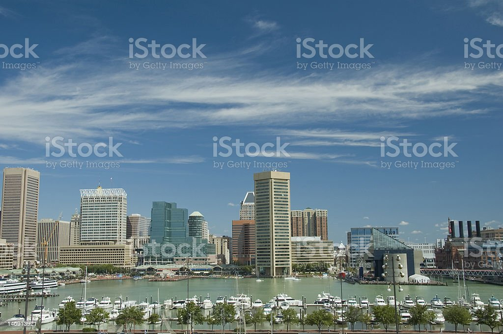 Baltimore Harbor in Summer stock photo
