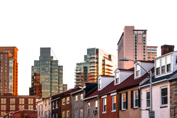 Baltimore homes and offices. stock photo