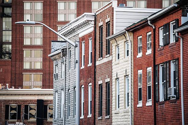 Baltimore homes. stock photo
