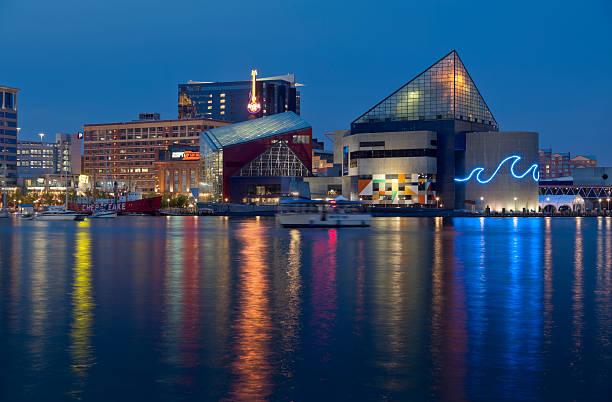 Baltimore Inner Harbor and National Aquarium  inner harbor baltimore stock pictures, royalty-free photos & images